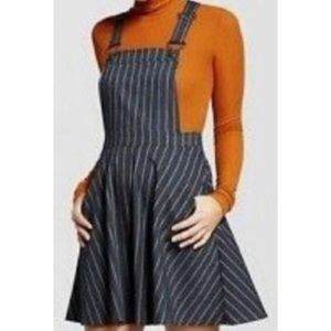 Target dark gray pinstripe overall dress